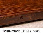 solid wood ebony tea tray set | Shutterstock . vector #1184514304
