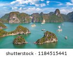 panoramic aerial view of halong ... | Shutterstock . vector #1184515441