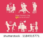romantic couple dancing icons   | Shutterstock .eps vector #1184515771