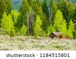 Abandoned Log Cabin At Edge Of...