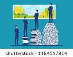 comparison between people with... | Shutterstock .eps vector #1184517814