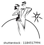 two and the sun. image for logo ... | Shutterstock .eps vector #1184517994