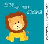 cute lion doodle  vector ... | Shutterstock .eps vector #1184526454
