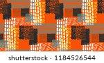 memphis seamless  pattern in... | Shutterstock .eps vector #1184526544