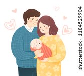 parents holding baby... | Shutterstock . vector #1184529904