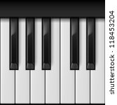 Piano Keys. Cool Illustration...