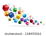 cubes in various combinations....
