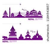 Nepal Travel Destination Vector ...