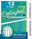 volleyball tournament design.... | Shutterstock .eps vector #1184545114