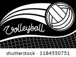 volleyball hand drawn letters   ... | Shutterstock .eps vector #1184550751