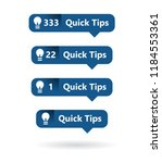 simple clean quick tips icon ...