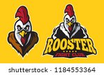 simple classic modern rooster...   Shutterstock .eps vector #1184553364