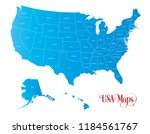 map of the united states of... | Shutterstock .eps vector #1184561767