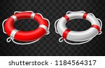 life buoy icon red and white on ... | Shutterstock .eps vector #1184564317