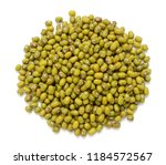 mung beans isolated on white... | Shutterstock . vector #1184572567