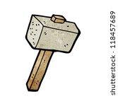 cartoon stone hammer | Shutterstock .eps vector #118457689