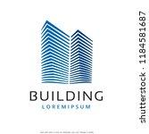 building logo template design... | Shutterstock .eps vector #1184581687