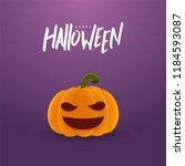 happy halloween greeting card... | Shutterstock .eps vector #1184593087