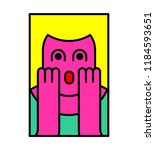 oh my god woman pop art style.... | Shutterstock . vector #1184593651