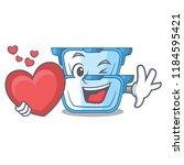 with heart cartoon double... | Shutterstock .eps vector #1184595421