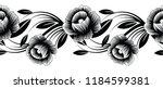 Seamless Black And White Flora...