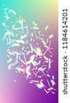 holographic light glitch effect.... | Shutterstock .eps vector #1184614201