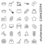 thin line vector icon set  ... | Shutterstock .eps vector #1184620594