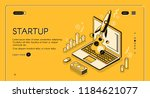 startup business project vector ... | Shutterstock .eps vector #1184621077