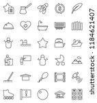 thin line vector icon set  ... | Shutterstock .eps vector #1184621407