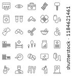 thin line vector icon set  ... | Shutterstock .eps vector #1184621461