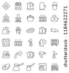 thin line vector icon set  ... | Shutterstock .eps vector #1184622271