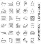 thin line vector icon set  ... | Shutterstock .eps vector #1184622331
