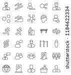 thin line vector icon set  ... | Shutterstock .eps vector #1184622334
