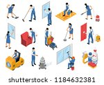 cleaning service isometric... | Shutterstock .eps vector #1184632381