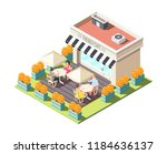 isometric composition with... | Shutterstock .eps vector #1184636137
