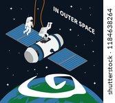 astronaut cosmonaut taikonaut... | Shutterstock .eps vector #1184638264