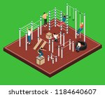 athletic field on green... | Shutterstock .eps vector #1184640607