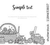 vector card needlework theme... | Shutterstock .eps vector #1184653837