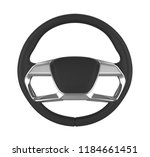 steering wheel isolated. 3d... | Shutterstock . vector #1184661451