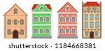 buildings. old european houses. ... | Shutterstock .eps vector #1184668381