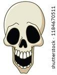 cartoon skull laughing | Shutterstock .eps vector #1184670511