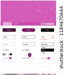 dark pink vector style guide...