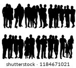 set of people crowd silhouette | Shutterstock .eps vector #1184671021