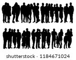 isolated  set of people crowd... | Shutterstock .eps vector #1184671024
