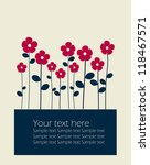 vector background with flowers | Shutterstock .eps vector #118467571