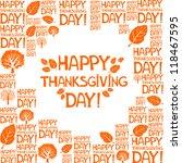 happy thanksgiving day   vector ... | Shutterstock .eps vector #118467595