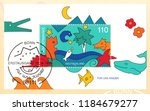 germany circa 1998 a stamp... | Shutterstock . vector #1184679277