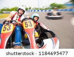 father and daughter driving go...   Shutterstock . vector #1184695477