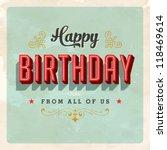 vintage birthday card   jpg... | Shutterstock . vector #118469614