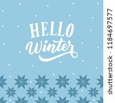 winter background with hand... | Shutterstock .eps vector #1184697577